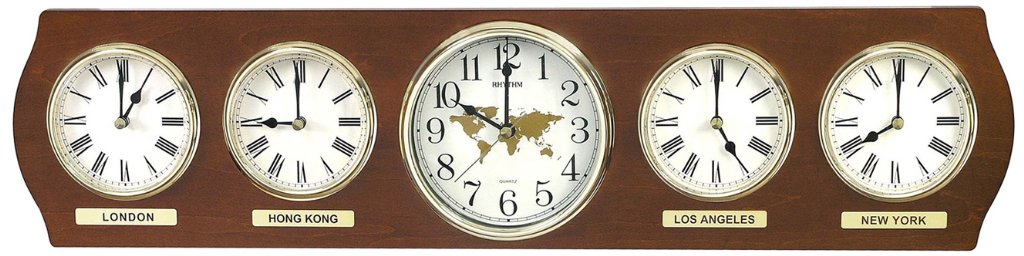 Rhythm World Time Wall Clocks priisma