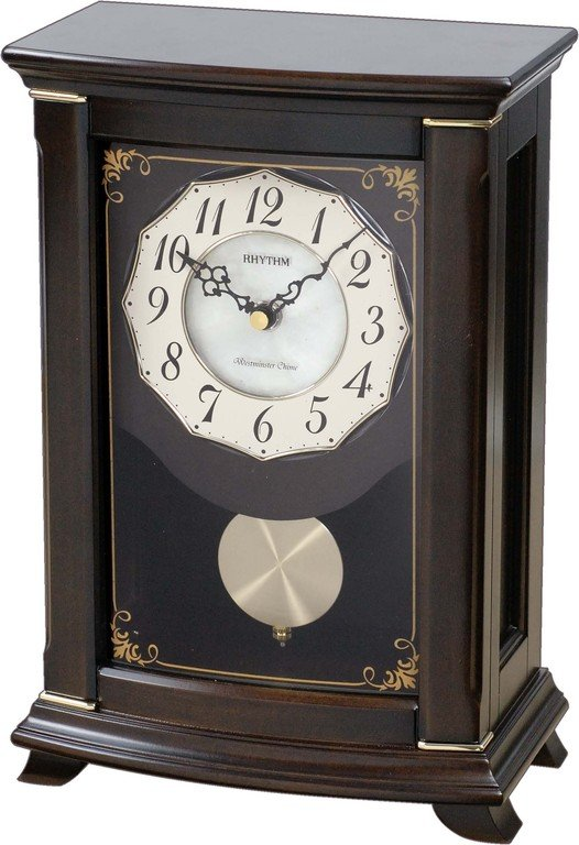 Table Clock Rhythm Seashell Mantel Clock Mantel Clock