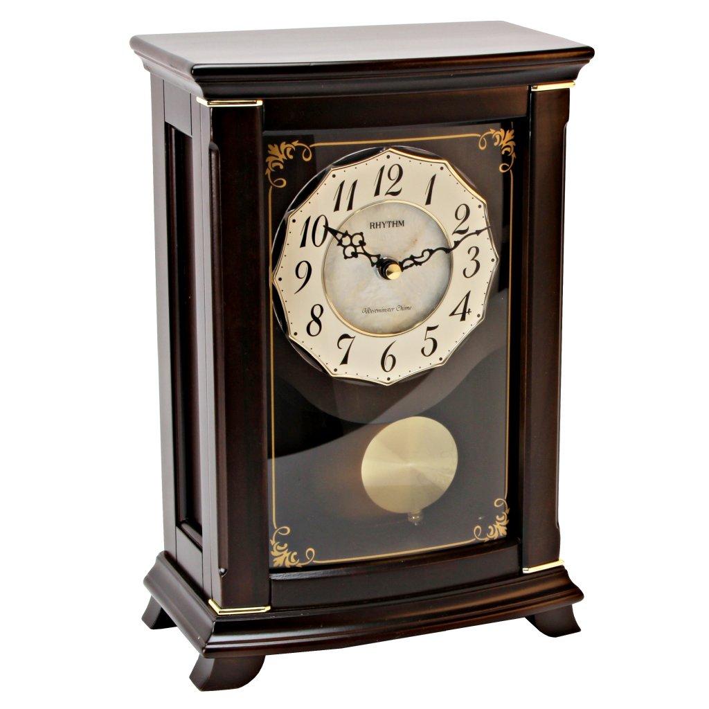 Table clock rhythm seashell mantel clock mantel clock for Seashell clock