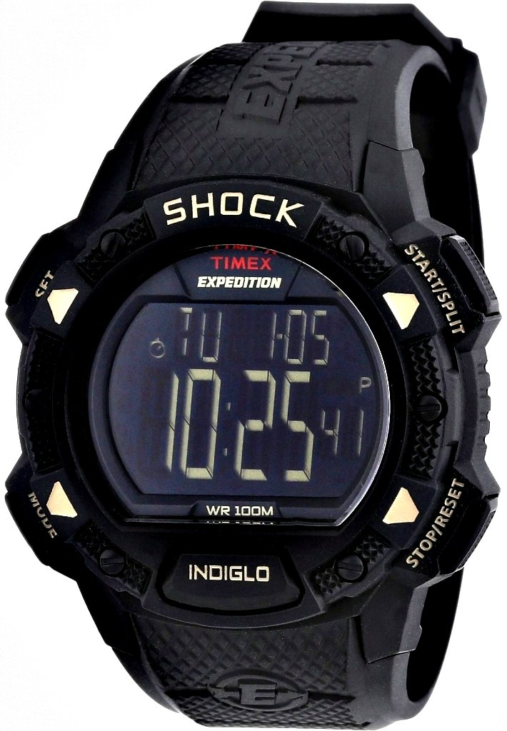 Watch Timex Expedition Lcd Shock Pusher Chronograph