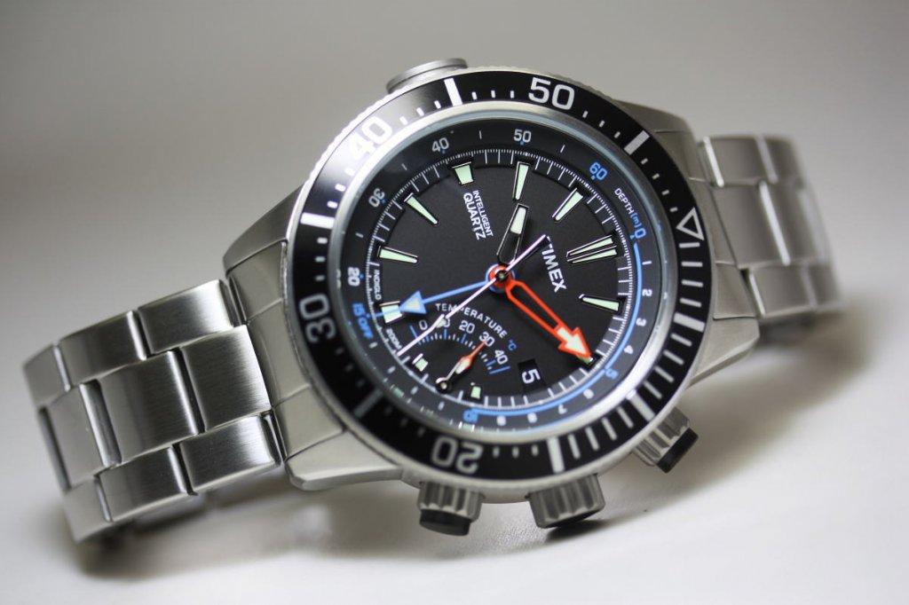 Watch Timex Intelligent Quartz Depth Gauge Thermo 46mm