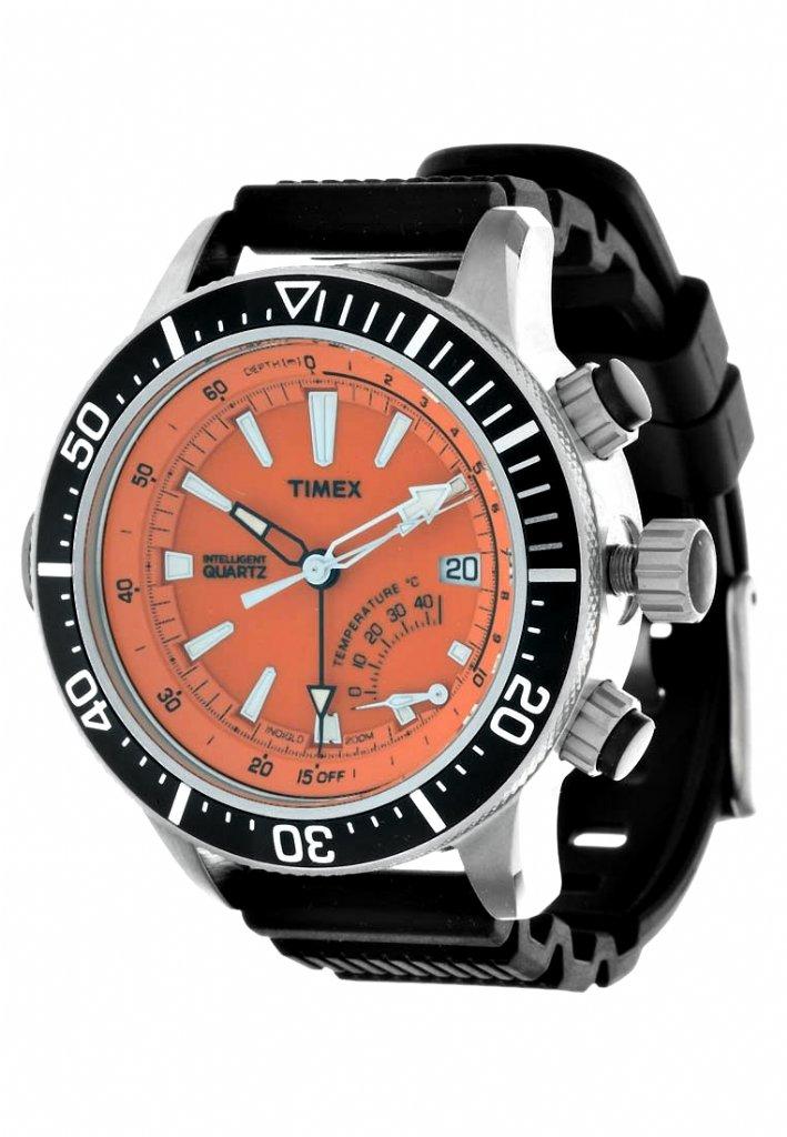 Watch Timex Intelligent Quartz Depth Gauge Thermo Orange