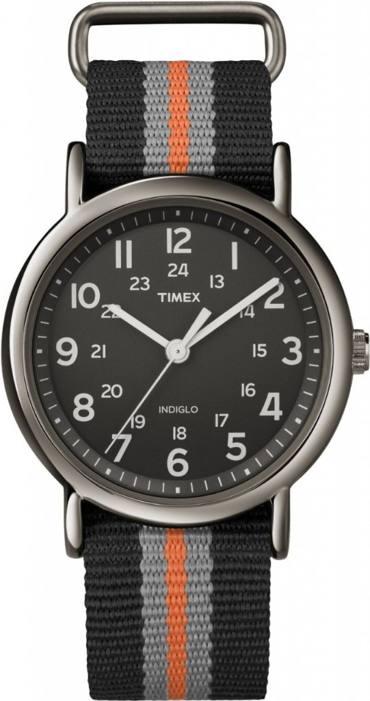 Watch Timex Weekender Gun Metal Grey Black Orange 38mm