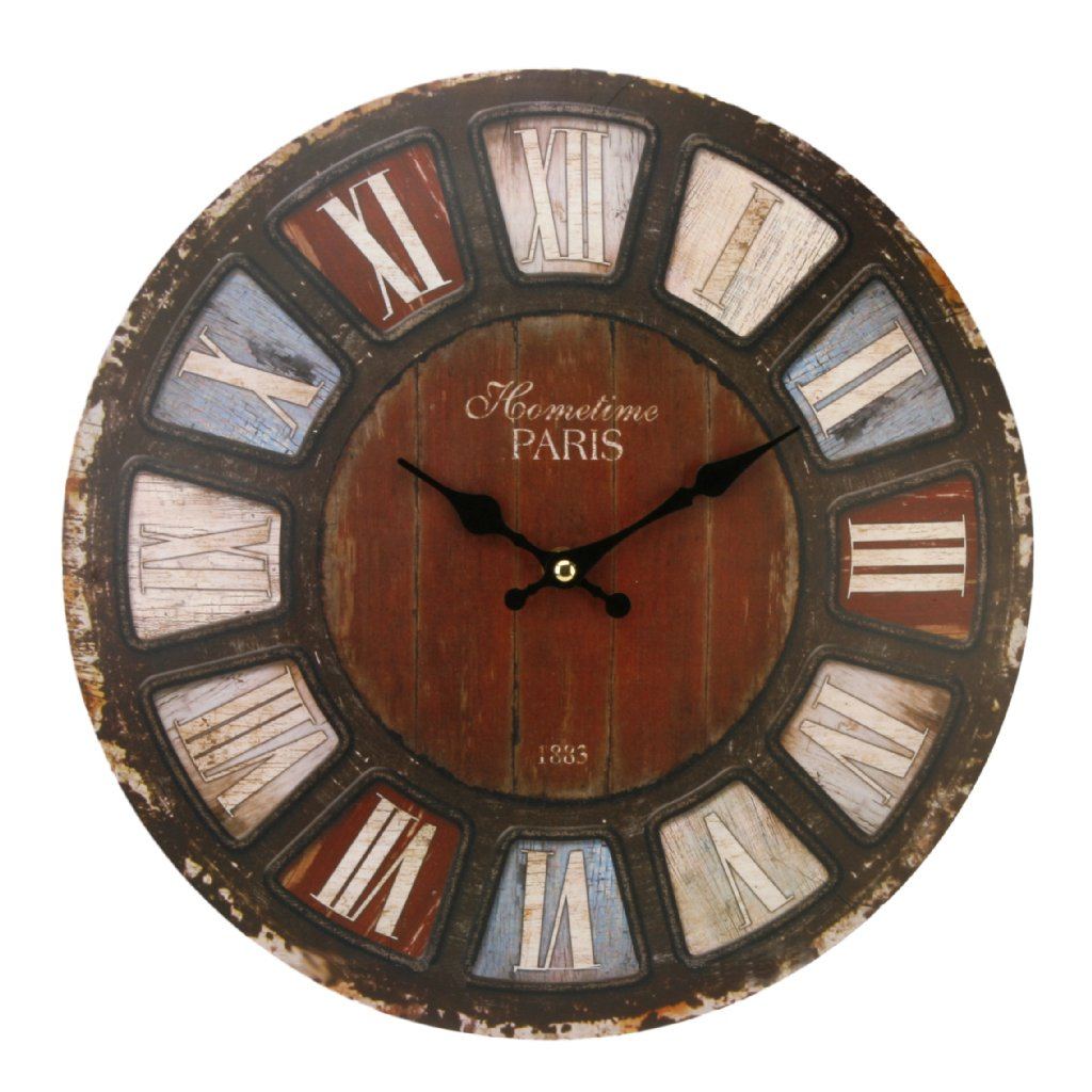 Wall Clock Hometime Domed Roman Rustic Wall Clocks
