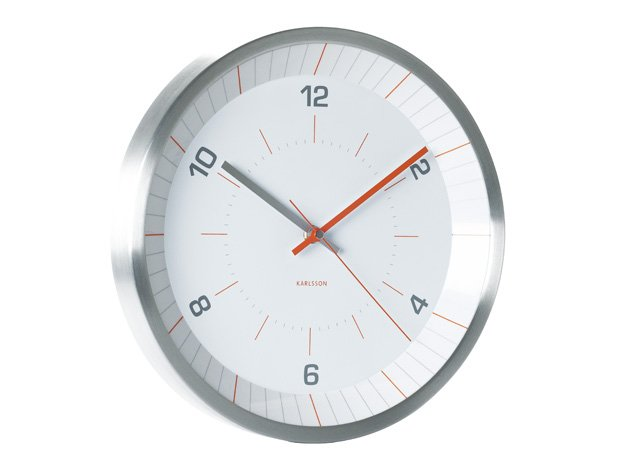 Wall Clock Karlsson Bright Line Orange Wall Clock Priisma