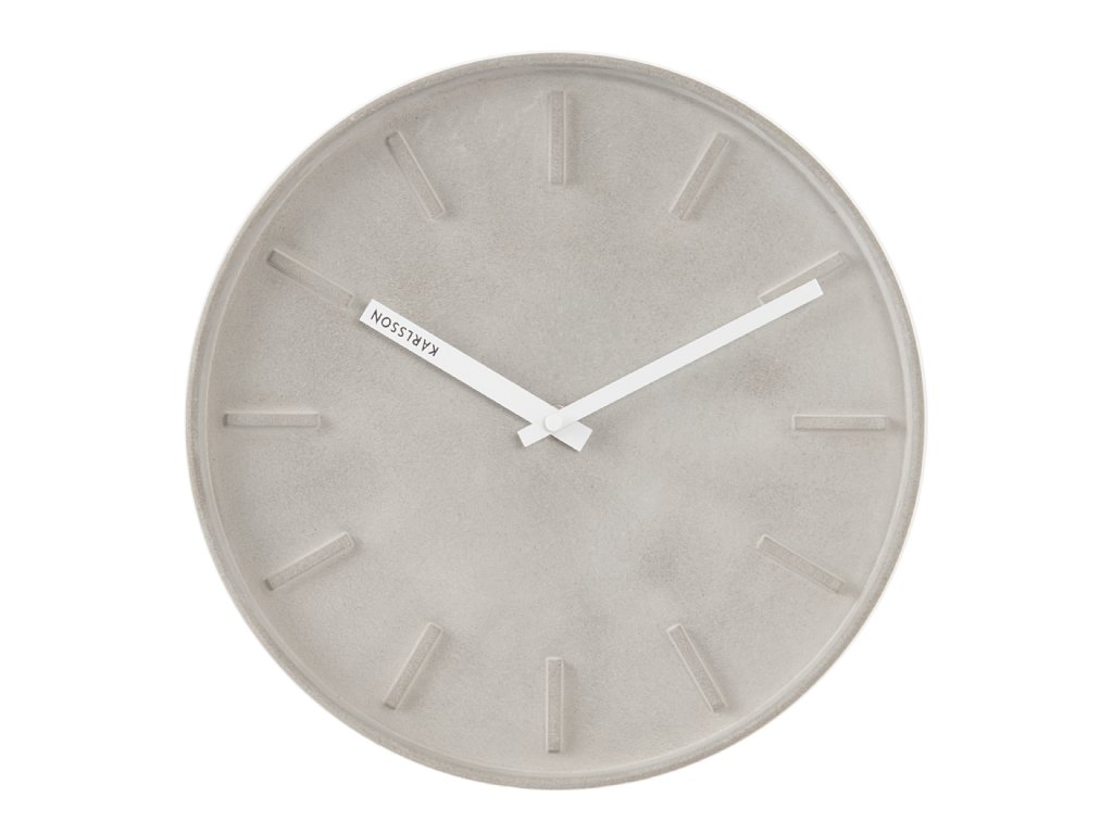 Wall Clock Karlsson Concrete Wall Clocks Priisma