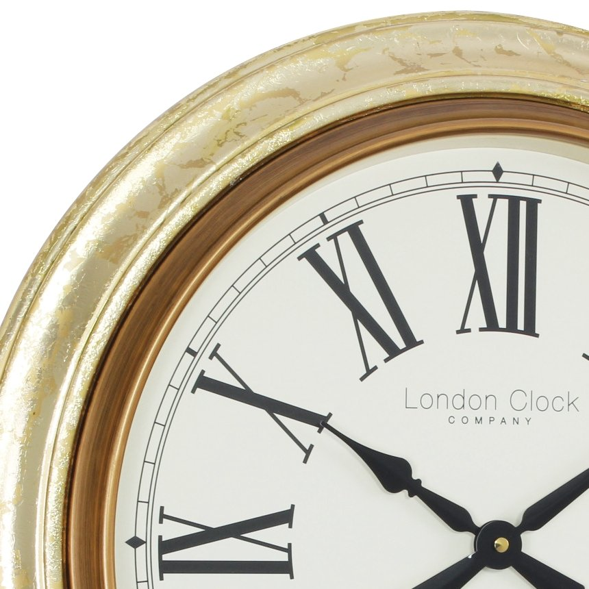 Wall Clock London Clock Company Antique Gold Leaf Large