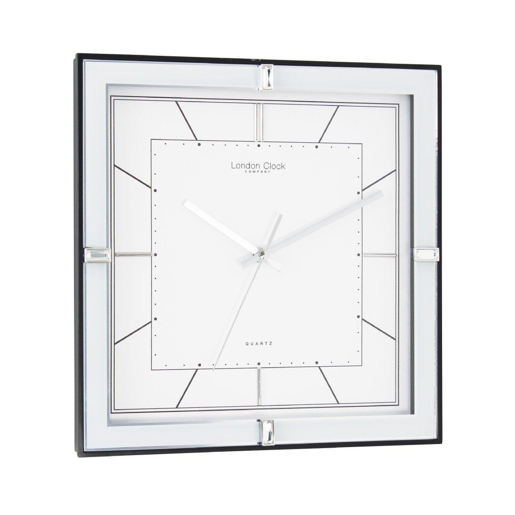 sein kello london clock company square deco sweep silver sein kellot priisma. Black Bedroom Furniture Sets. Home Design Ideas
