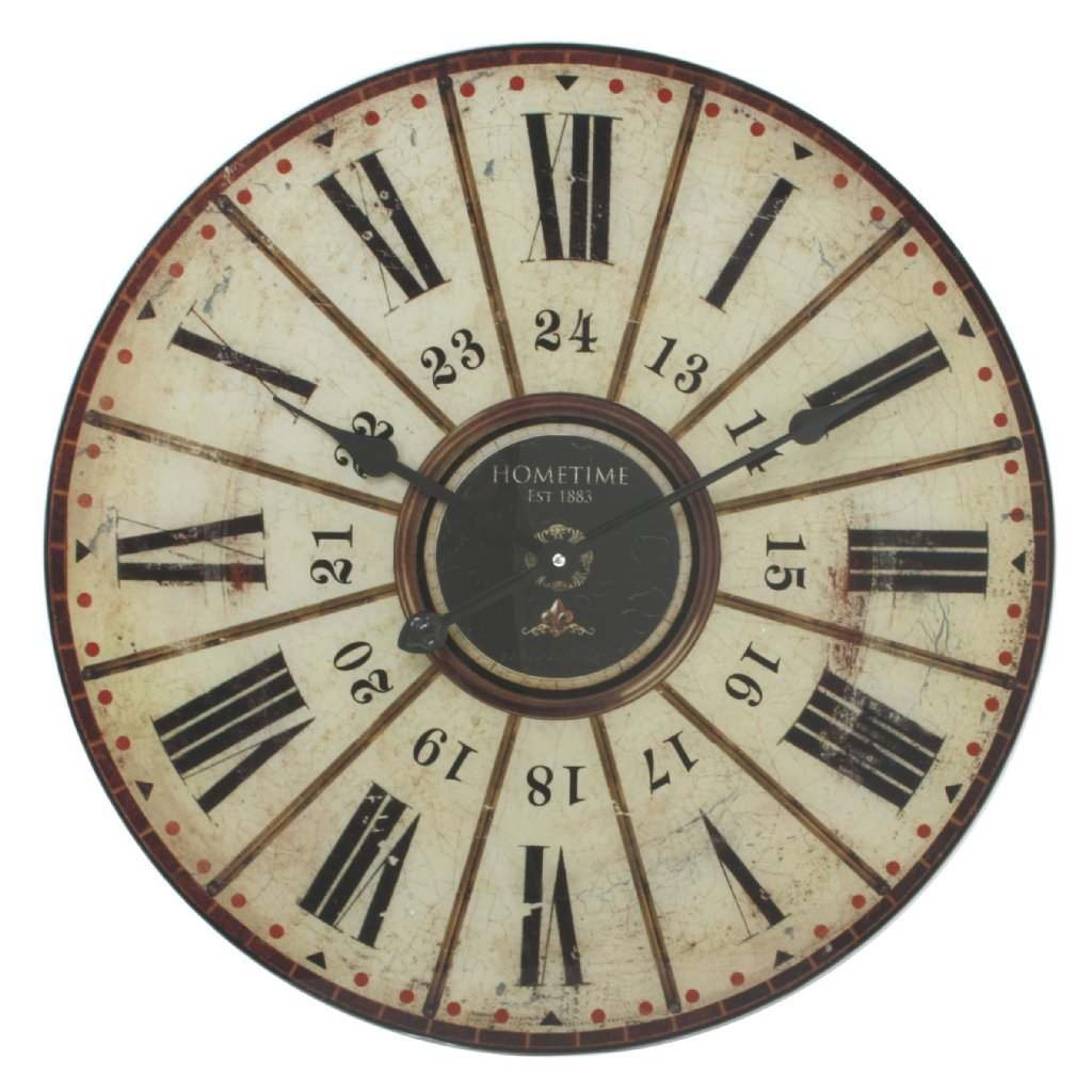 Hometime Roman 24 Glass Large Wall Clocks Priisma