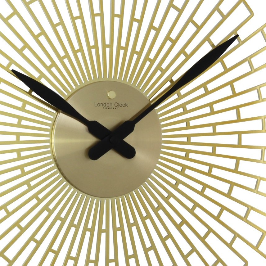 Wall Clock London Clock Company Deco Gold Gloss Wall