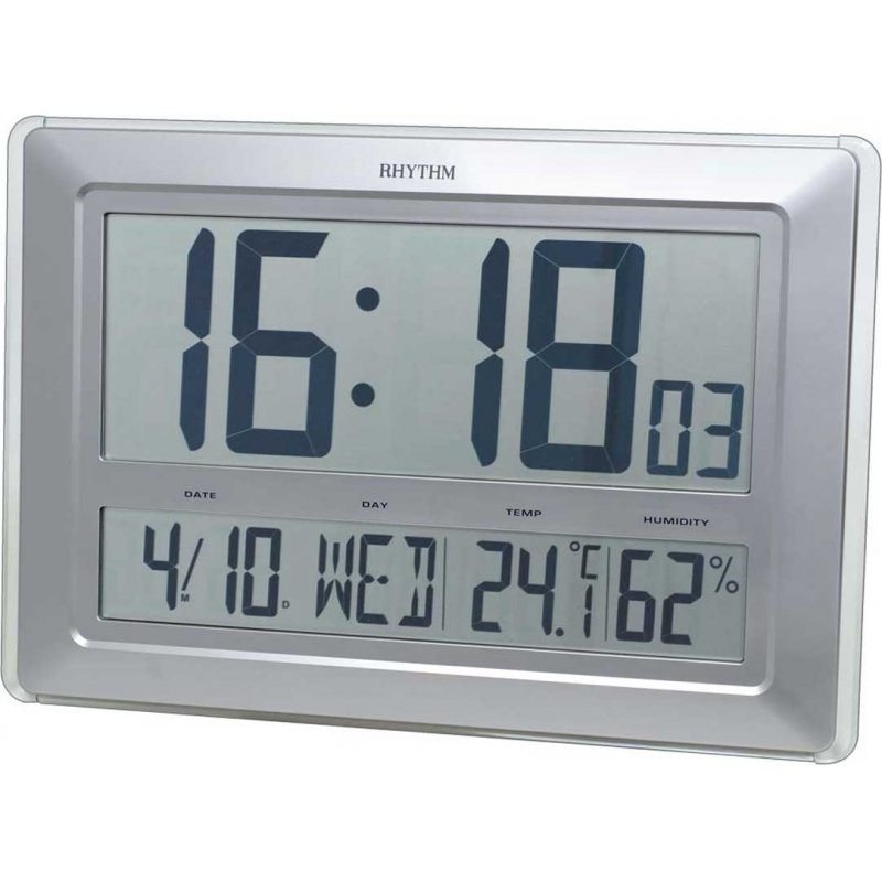 Giant LCD Thermo Hygro Wall Clocks priisma