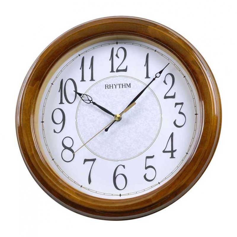 Wall Clock Rhythm Piano Wood Sweep - Wall Clocks