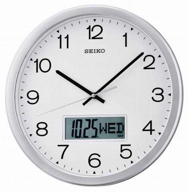 wall clock seiko analogue day date lcd wall clocks at priisma