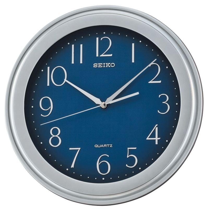 Wall Clock Seiko Bold Blue Silver 29 Wall Clocks At Priisma