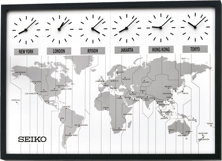 Wall clock seiko world time map oak pemium wall clocks at priisma seiko world time map oak pemium 85 gumiabroncs
