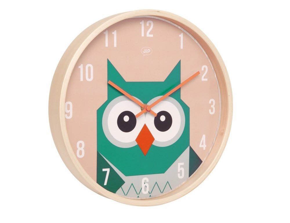 Wall Clock Owl Design : Wall clock karlsson forest owl wood clocks