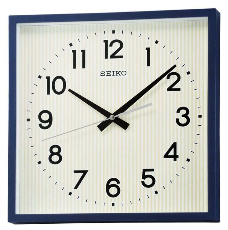 Light blue paint colors for kitchen - Wall Clock Seiko Square Dark Blue Lumi Sweep Sweep Wall Clocks At
