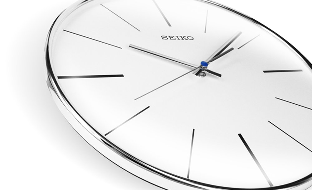 30 wall clock round seiko dot stripes sweep silver 30 wall clock 30 clocks at priisma