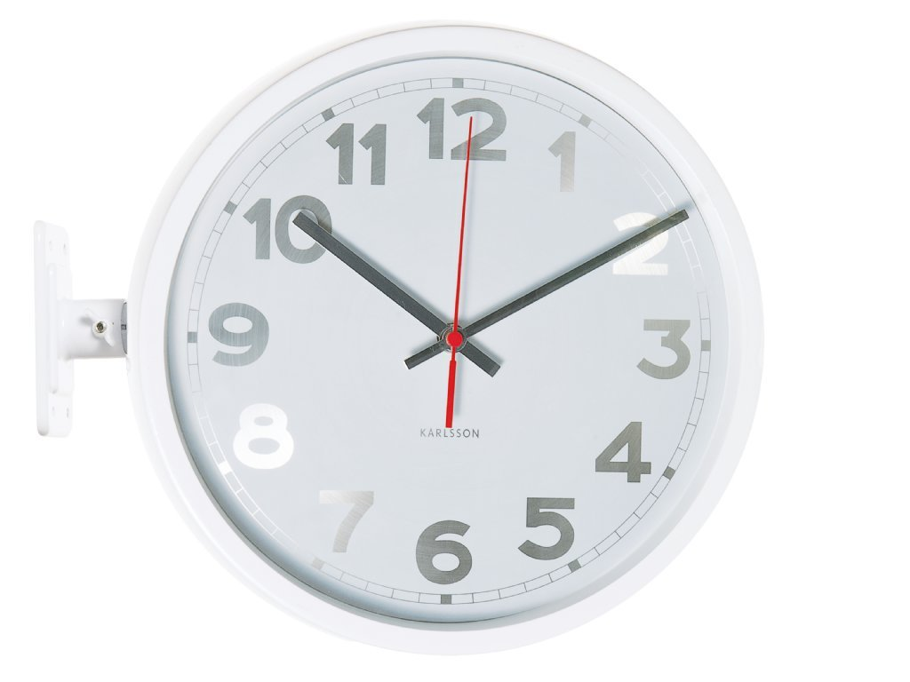 Wall Clock Karlsson Numbers Double Sided White Wall